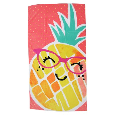 Evergreen Basics Fashion Miss Pineapple Beach Towel - Multi-Colored