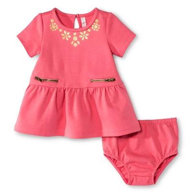 Baby Girls' Empire Dress Pink 6-9 M - Cherokee®