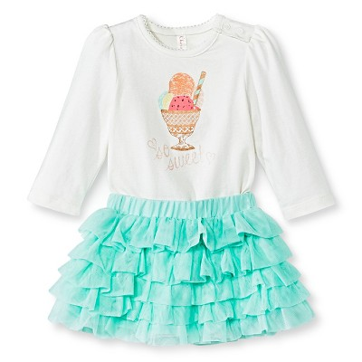 Baby Girls' Bodysuit/Tutu Skirt Set White 0-3 M - Cherokee®