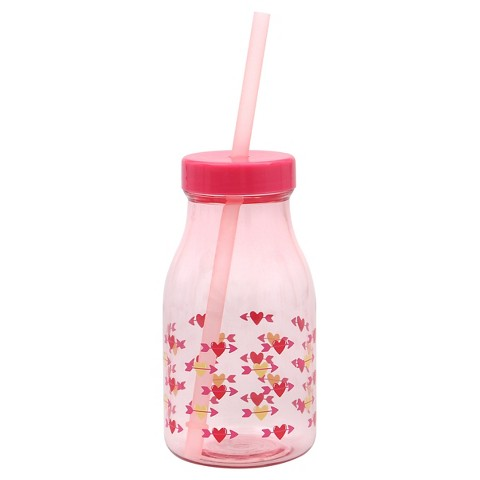Evergreen Valentine Milk Bottle, Pink