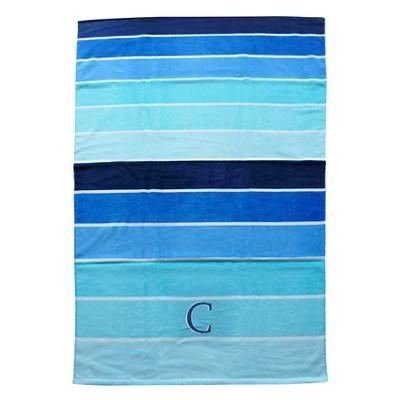 Evergreen Monogram C Beach Towel - Blue