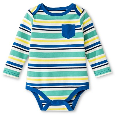 Circo™ Baby Boys' Multistripe Bodysuit - Almond Cream/Splashing Blue 0-3 M