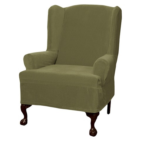 Maytex Collin Stretch Slipcover 1pc Wing Chair Target