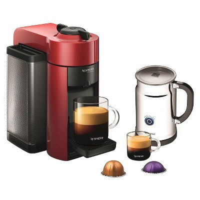 Nespresso VertuoLine Red Evoluo Espresso & Coffee Machine with Aeroccino + Milk Frother