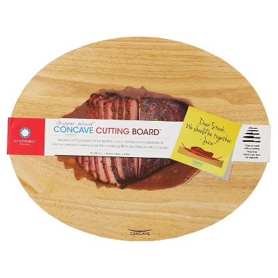 Architec 14 x 18 Inch Non-Slip Concave Wood Cutting Board