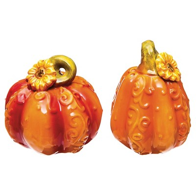 Ceramic Pumpkin Salt and Pepper Shaker Set