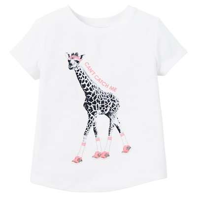 Just One You™ Made by Carter's® Toddler Girls' Giraffe Track Star Graphic Tees - Sebring White 2T