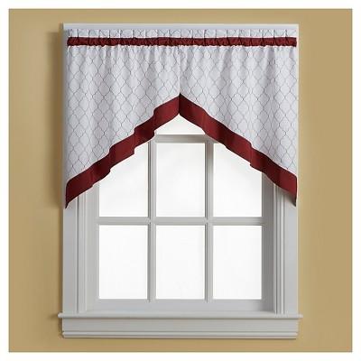 Glendale Window Swag - Red