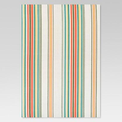 5'x7' Outdoor Rug - Multi Stripe - Threshold™