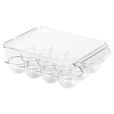 InterDesign Fridge Binz Small Covered 12 Egg Holder - Clear