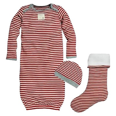 Gender Neutral Nightgowns Burt's Bees 0-9 MONTHS Cranberry