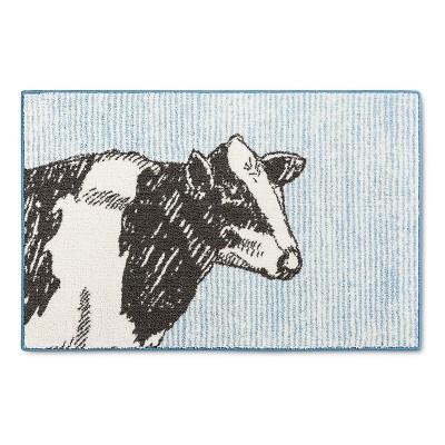 """Threshold™ Cow Kitchen Rug - Blue (30x46"""" )"""