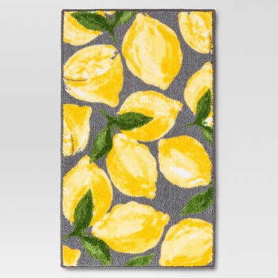 "Threshold™ Lemons Kitchen Rug - Gray/Yellow (30x46"" )"