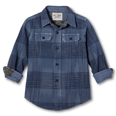 Toddler Boys' Button Down Shirt - Blue 2T