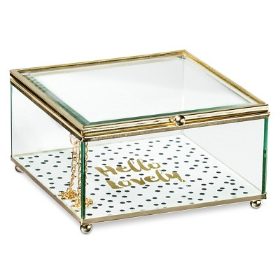 Decorative Box Tricoa Glass Multi-colored Square