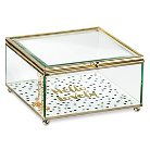Decorative Box Tricoa Glass Multi-colored Square