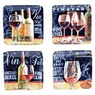 "Certified International House Wine Canape Plates Set of 4 (6"")"