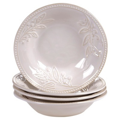 "Certified International Bianca Ivory Soup/Pasta Bowls Set of 4 (9.5"" x 2"")"