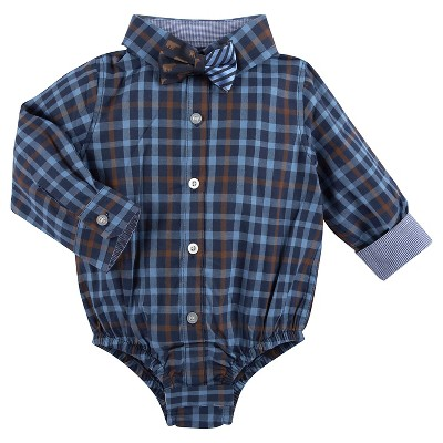 Male Button Down Shirts True Navy 6-12 MONTHS