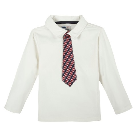 Toddler Boys 39 Polo Shirt And Tie Winter White Target