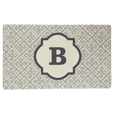 Threshold™ Monogram Comfort Kitchen Mat - Gray (B)