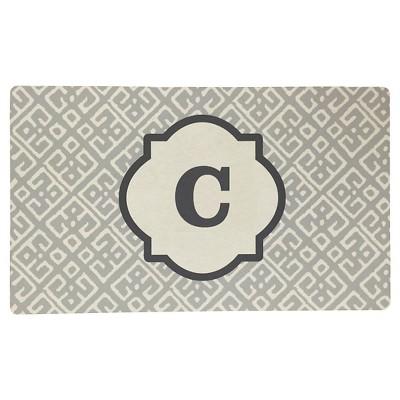 Threshold™ Monogram Comfort Kitchen Mat - Gray (C)