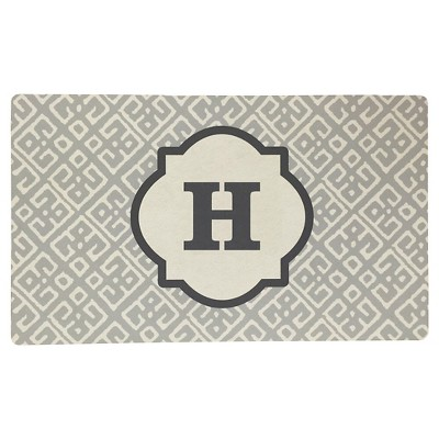 Threshold™ Monogram Comfort Kitchen Mat - Gray (H)