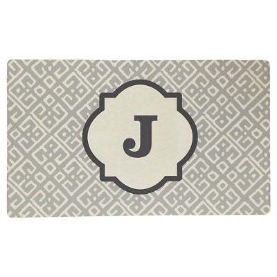 Threshold™ Monogram Comfort Kitchen Mat - Gray (J)
