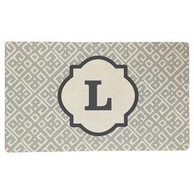Threshold™ Monogram Comfort Kitchen Mat - Gray (L)