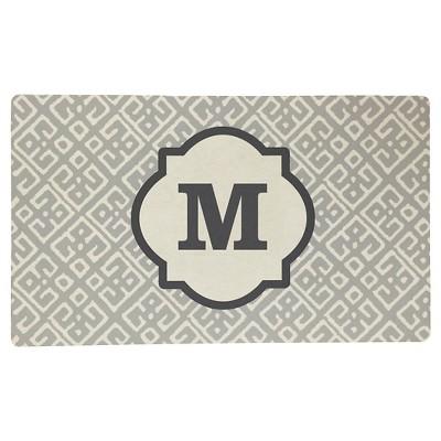 Threshold™ Monogram Comfort Kitchen Mat - Gray (M)