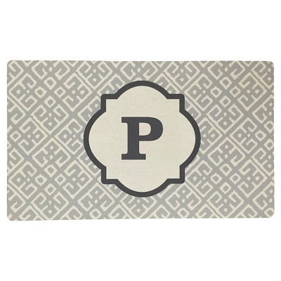 Threshold™ Monogram Comfort Kitchen Mat - Gray (P)