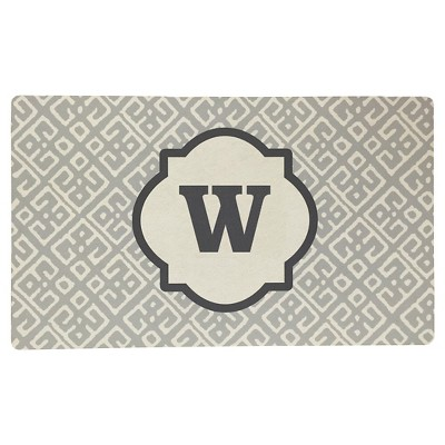 Threshold™ Monogram Comfort Kitchen Mat - Gray (W)