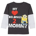 Toddler Boys' Despicable Me T-Shirt Long Sleeve - Charcoal Heather
