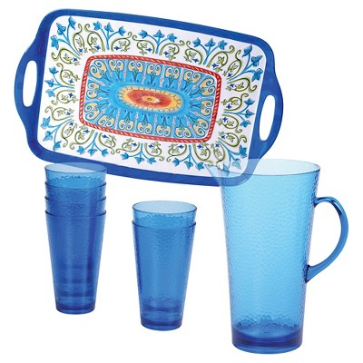 Certified International Tuscany Melamine 8-pc. Beverage Set