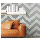 Devine Color Zig Zag Peel & Stick Wallpaper- Sterling and Horizon