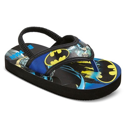 Toddler Boys' Batman Flip Flop Sandals - Black 5-6