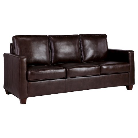 square arm bonded leather sofa threshold target