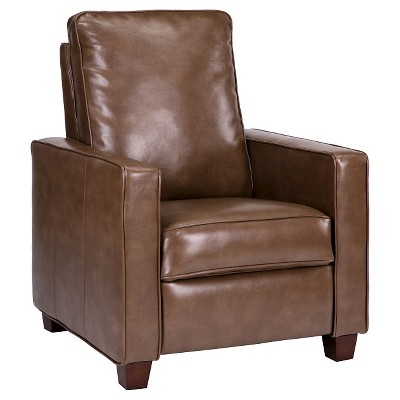 Square Arm Bonded Leather Recliner - Camel - Threshold™