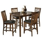 Signature Design by Ashley Stuman Counter Height Dining Table Set (5 Pieces) - Medium Brown