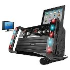 Akai Karaoke System With Disco Light Effect and Power Adapter - Black (KKAK213 )