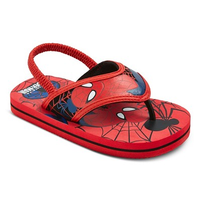 Toddler Boys' Spider-Man Flip Flop Sandals - Red (5-6)