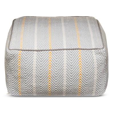 Brooklyn & Bond™ Herringbone Cotton Pouf - Gray (24x24x13)