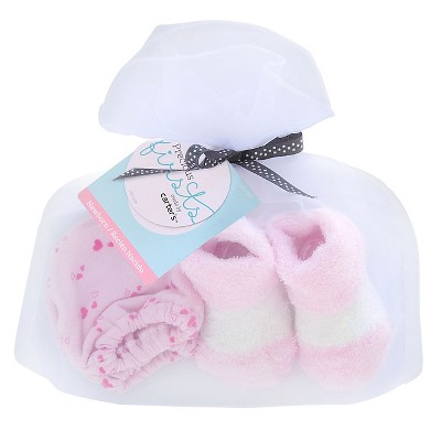 Just One You™ Made by Carter's® Baby Girls' Hearts Mittens/Bootie Set - Pink/White OSFM