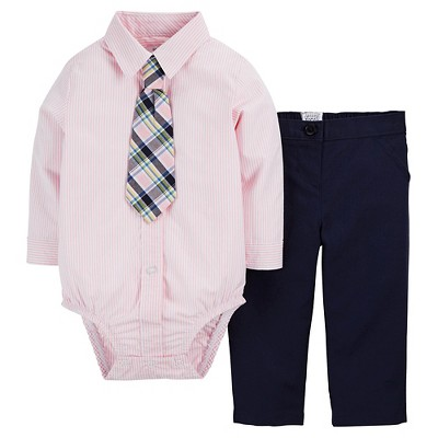 Just One You™Made by Carter's® Baby Boys' 2 Piece Set - Salmon NB