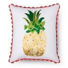 """Tutti Frutti Pineapple Throw Pillow (16""""x14"""") Yellow - Sabrina Soto™"""