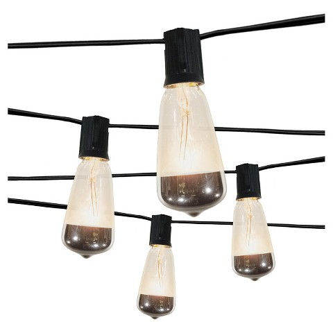 Target Mercury String Lights : 10Lt Vintage Clear Bulb with Solid Metallic Merc... : Target