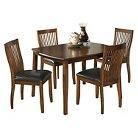 5 Piece Stuman Rectangular Dining Room Table Set Wood/Medium Brown - Signature Design by Ashley
