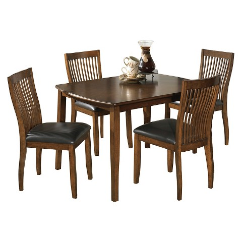 5 piece stuman rectangular dining room table set target walnord rectangular dining room counter table target