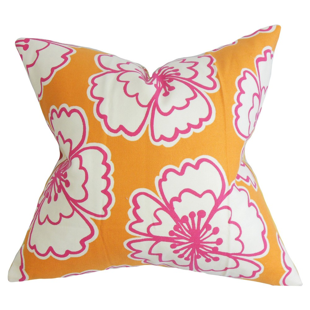 the pillow collection bold floral decorative pillow