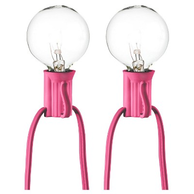 25ct Clear Globe String Lights - Pink String - Room Essentials™
